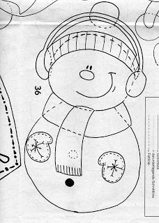 schema pupazzo di neve con cuffie 2