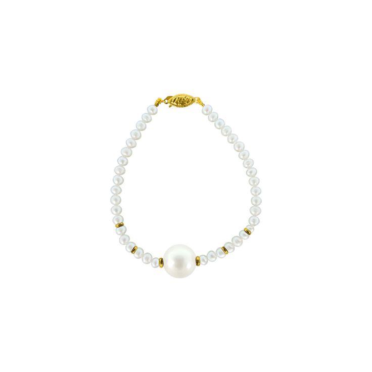 Βραχιόλι με λευκά μαργαριτάρια - G120605
