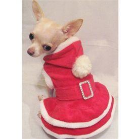 Рождественская собака Hoodie платье