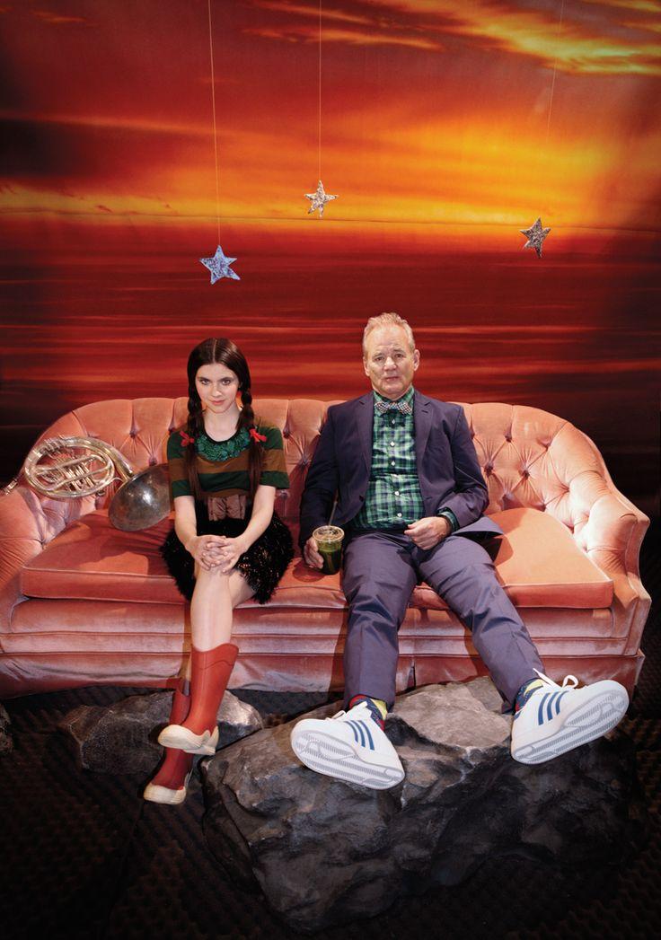 Bill Murray and Kara Hayward promote Moonrise Kingdom    #films #movies #WesAnderson #MoonriseKingdom