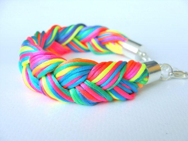Neon Multicolour Bracelet by CarolinePrecjoza on Etsy