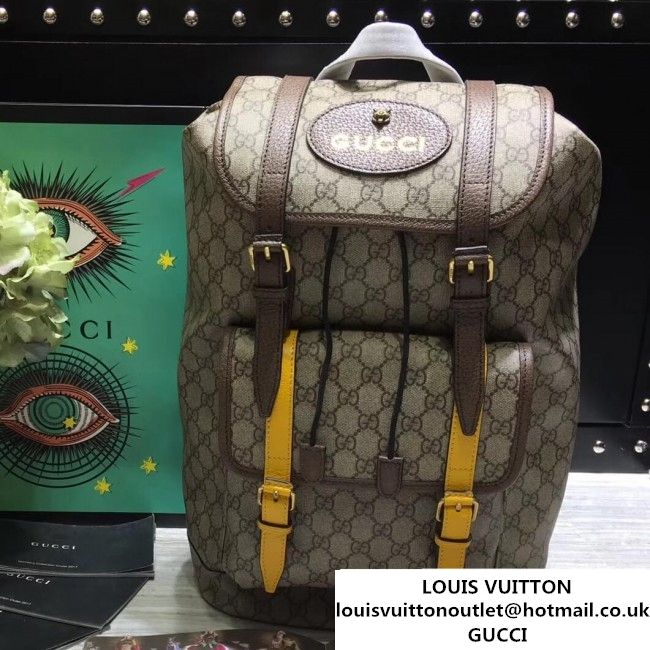 a9337fd14d78 Gucci 473869 Soft GG Supreme Backpack 2017 (2A068-7091529 )
