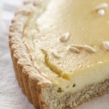 Crostata integrale con crema al semolino!