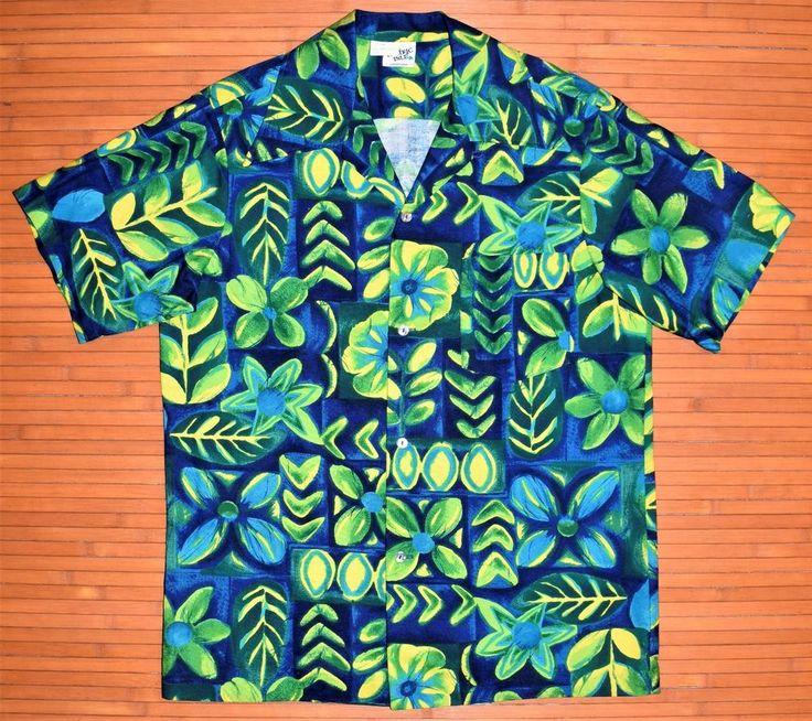 1960s Vintage  Pacific Isle Groovy Floral Hawaiian Aloha Shirt #Hawaiian #Hawaiian #Business