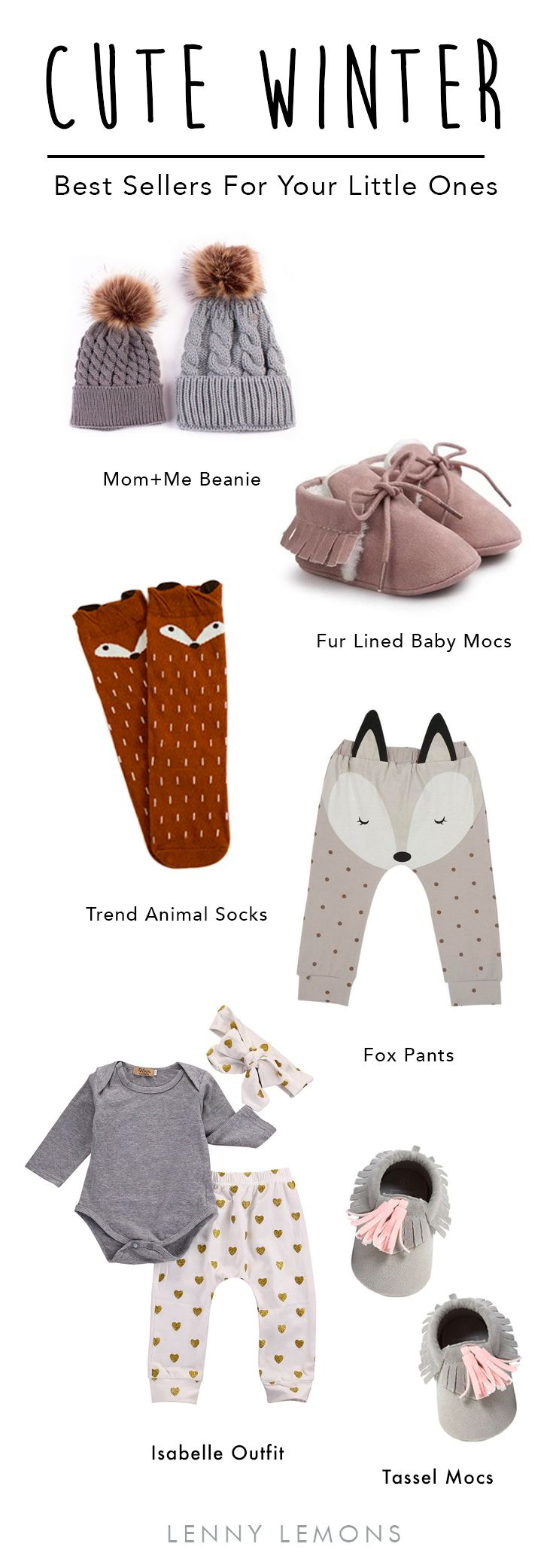 FREE USA SHIPPING + UP TO 70% OFF. Cutest items for your baby girl. Choose between our best sellers to dress your baby girl this winter. Lenny Lemons, Baby and toddler apparel. Baby clothes, baby outfits. Fashion for babies.