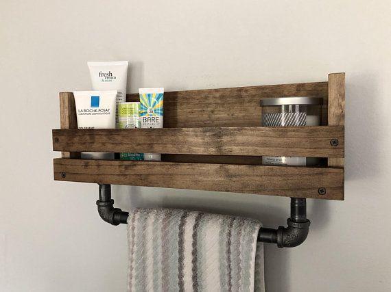 bathroom shelf with towel bar towel holder bathroom towel bar rh pinterest com
