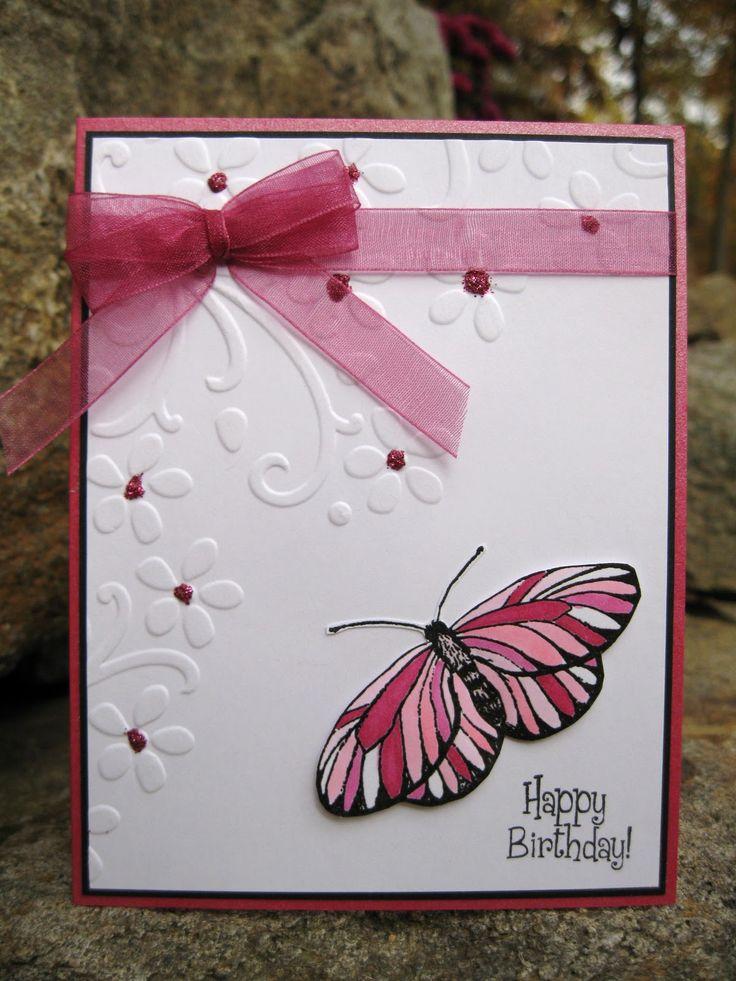 Открытка своими руками с бабочками и цветами, днем рожденья смешные