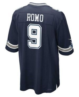 Nike Kids' Tony Romo Dallas Cowboys Game Jersey, Big Boys (8-20) - Blue M