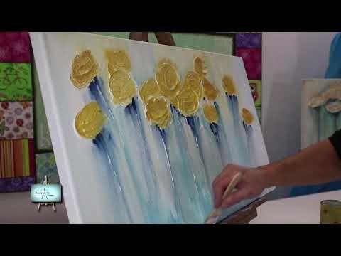 ABSTRACTO!!!! 2º Parte!!Cuadro con Flores en Relieve!!! - YouTube
