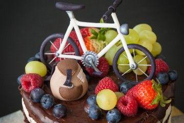 pastel de bicicleta
