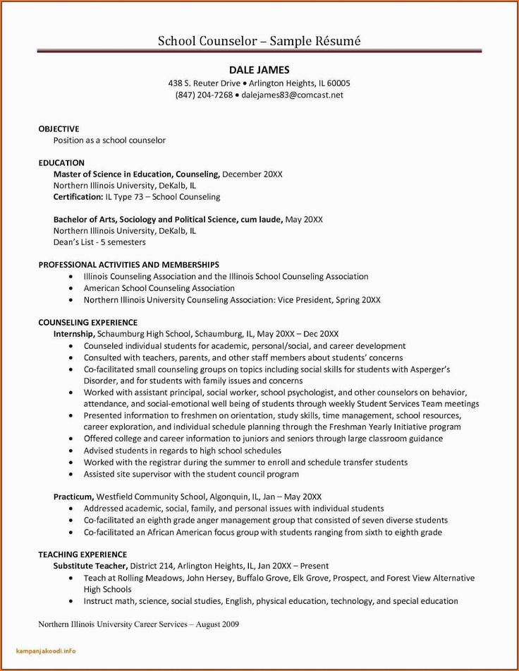 School Counselor Resume Sample 2019 CV Examples 2020