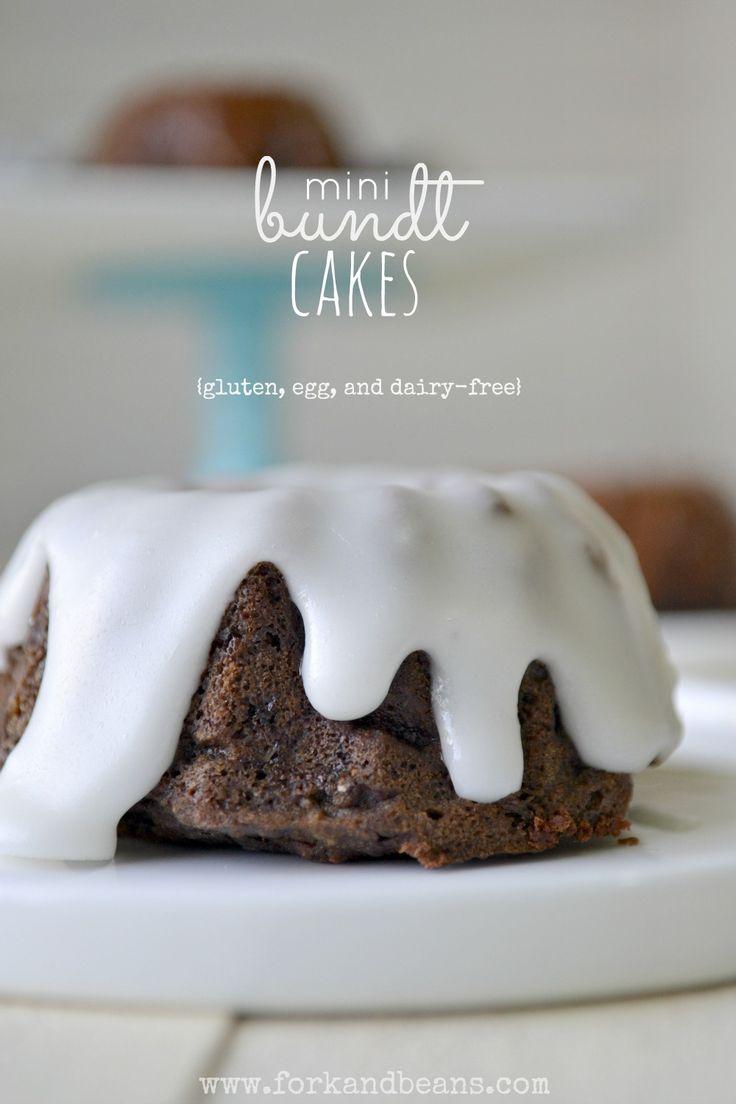 Mini Chocolate Bundt Cakes ~ vegan, gluten free