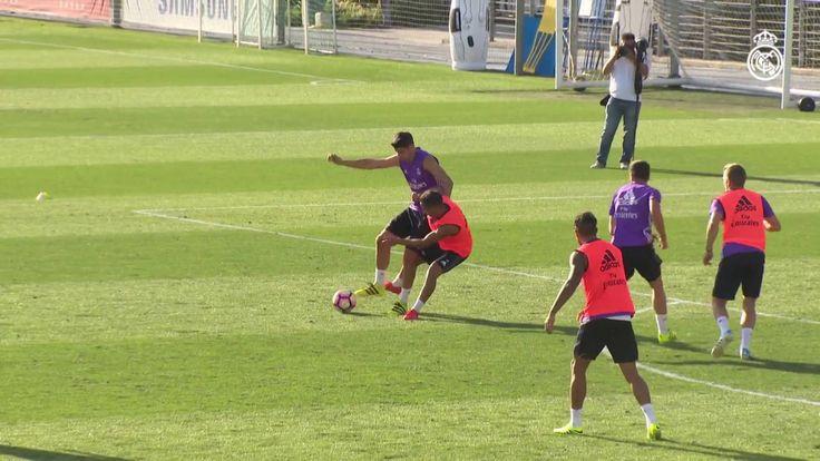 Video Álvaro Morata skills and goals in training
