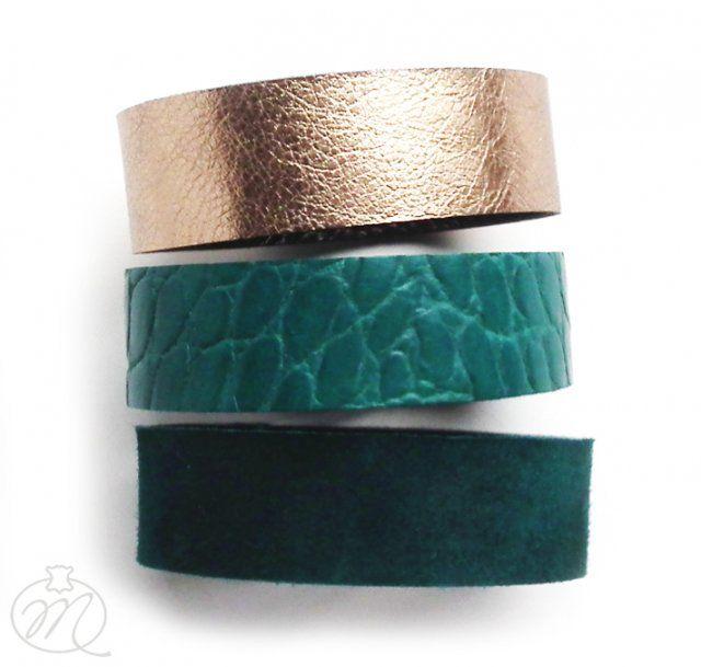 Komplet trzech bransolet szmaragd (sprzedawca: Mikashka), do kupienia w DecoBazaar.com