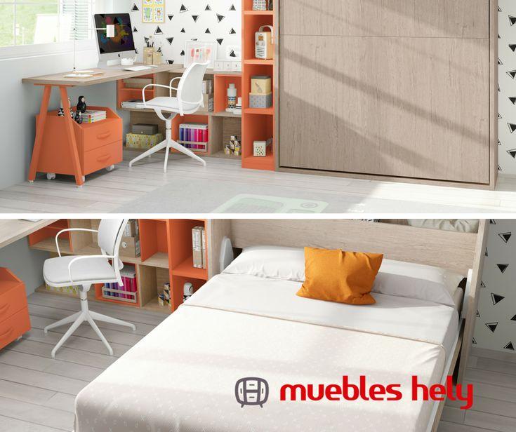 En naranja, verde, madera... Las soluciones abatibles para dormitorios las tenemos en cualquier color y forma  https://www.muebleshely.es/  #abatibles #camas #habitacion #home #dormir #relax #decoracion #decor #design #muebles #mobiliario