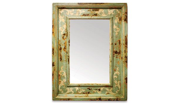 The Koenig Collection offers a diverse variety of decorative accessories and furniture. This mirror features a hand painted distressed finish with scrolls and a simplistic hand crafted frame. See more of our high quality accessories at a local Houston showroom!