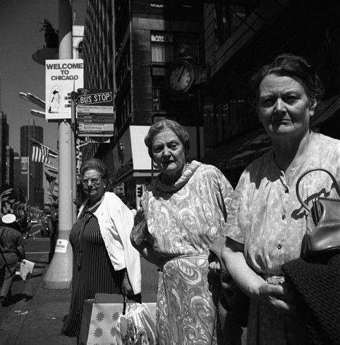 Vivian Maier, Chicago (Three Elderly Women Staring) ca. 1960s, Gelatin silver, printed 2011, edition 1/15