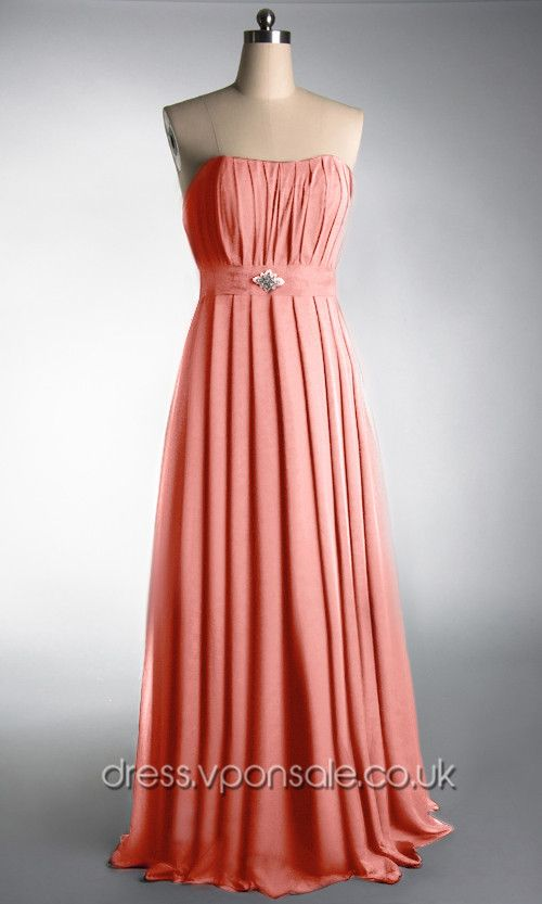 Orange Long Chiffon Prom Dress VPW032