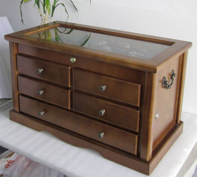 Collector Knife Display Case Cabinet With Glass Top Shadow Box, Solid Wood  Item Shown Above