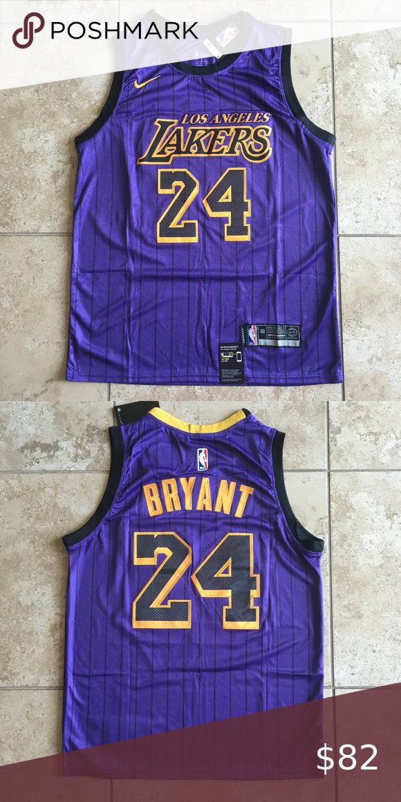 Kobe Bryant #24 Purple/Black Stripe Jersey | Kobe bryant 24 ...