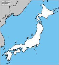 Japón: Mapas gratuitos, mapas mudos gratuitos, mapas en blanco gratuitos, plantillas de mapas gratuitos