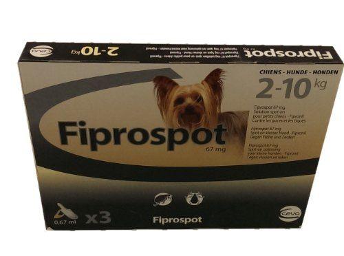 Aus der Kategorie Tropfen  gibt es, zum Preis von EUR 9,99  Fiprospot für Hunde ist leider nicht mehr erhältlich. Als Alternative empfehlen wir Frontline Spot-On für Hunde. Dieses Mittel finden Sie hier.<br /> <br /> Fiprospot Spot On für Hunde ist eine Spot-on Lösung zur äußerlichen Anwendung bei Hunden. Fiprospot kann als Flohmittel und Zeckenmittel schon bei Welpen ab 8 Wochen und mit mehr als 2kg Körpergewicht angewendet werden.<br /> <br /> Fiprospot<br /> Fiprospot ist zur Behandlung…