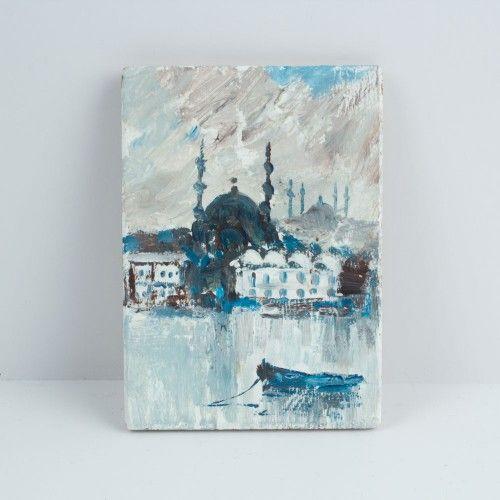 The Painting Magnet Of Eminönü 14 $ / %100 Handmade By Cosanon Art