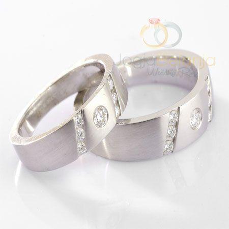 Cincin Tunangan Kareema Perak Lapis Emas Putih | Cincin Tunangan Jogja