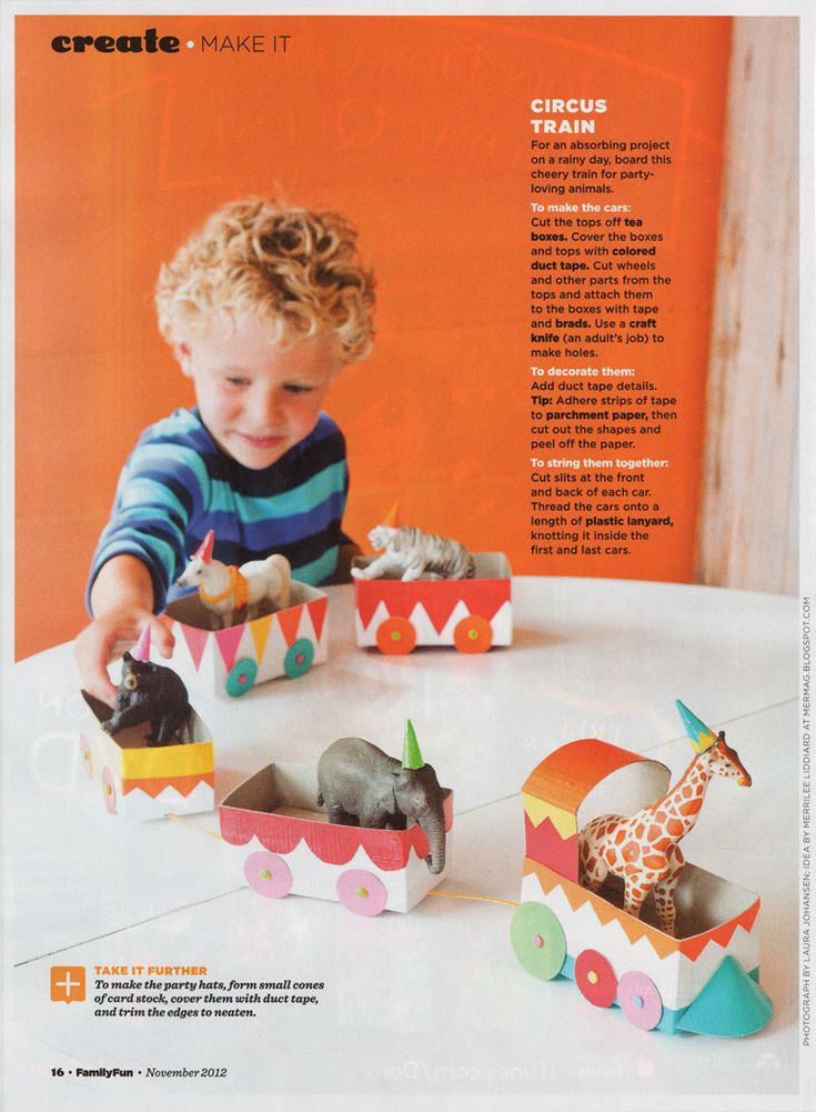 Have you had a chance to peruse the November issue of Family Fun that recently hit the news stands? If so you might have seen our Tea Box Circus Train in it! A couple of months ago Family Fun asked...