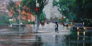 Image result for michael cawdrey art facebook . Acrylic street scene Brisbane