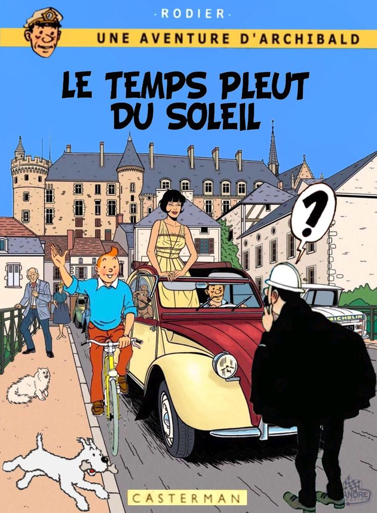 Tintin - book cover homage art