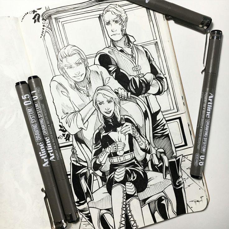 Aedion, Aelin e Rowan