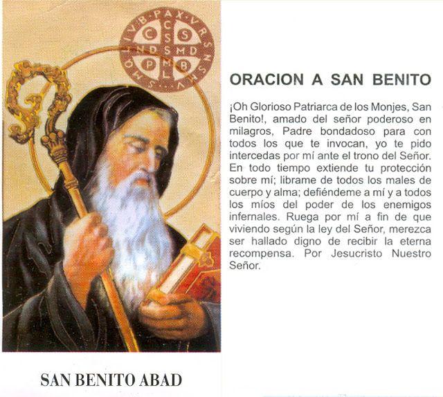 Rincón de la Oración: Estampas Oraciones de San Benito de Nursia