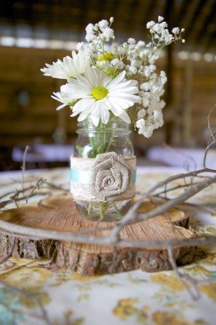 de mariage rustique decoration bocaux table mariage table mariage ...