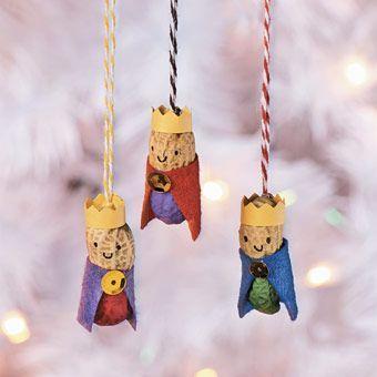 Peanut Wisemen Ornaments