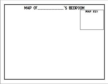 This map of a bedroom template is great for teaching maps to students. Students are able to fill in their name, create a map key, and design their bedroom. Using this when introducing maps to students who are not familiar with them, works well. Have fun and help students re-create their bedroom map-style!!