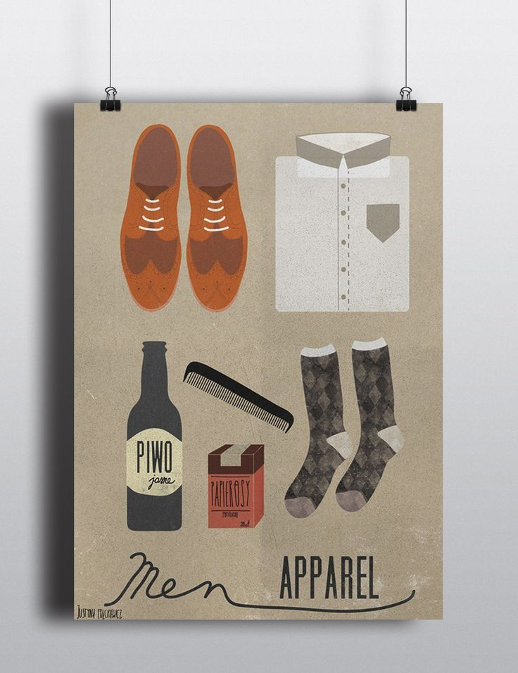 'Men Apparel' by Justyna Frąckiewicz on wallbeing.com