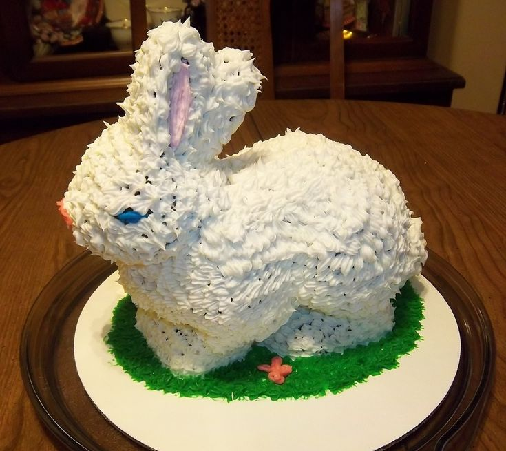 Bunny Cake 3D 3D Bunny chocolate cake with vanilla frosting. Baked in Nordic ware 3 D Standup Easter Bunny pan.