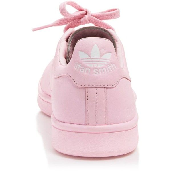 Raf Simons for Adidas Flat Lace-Up Low-Top Sneakers - Stan Smith... (£320) ❤ liked on Polyvore featuring shoes, sneakers, chaussure, flats, flat sneakers, low profile sneakers, flat shoes, lace up sneakers and adidas