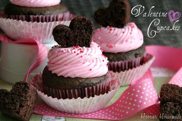 Valentine's CupcakesValentine'S Day, Valentine Treats, Valentine Day, Heart Shape, Cupcakes Recipe, Chocolates Cupcakes, Valentine Ideas, Valentine Cupcakes, Easy Valentine