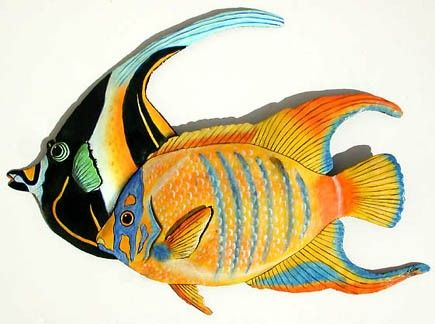 175 best Tropical Fish Wall Decor Painted Metal Wall Decor ...