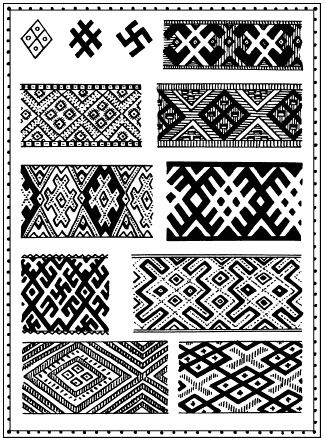 Pagan symbols used in embroidery 10-19th centuries  Slavic symbolism - 8 page views remaining today