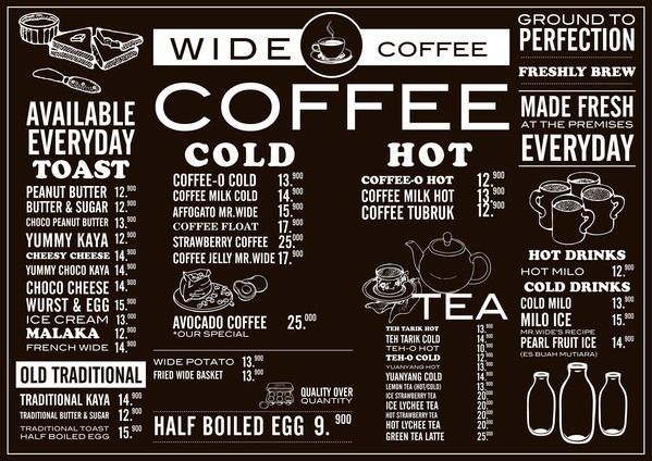 Wide Coffee - Menu by ranny febrianti, via Behance