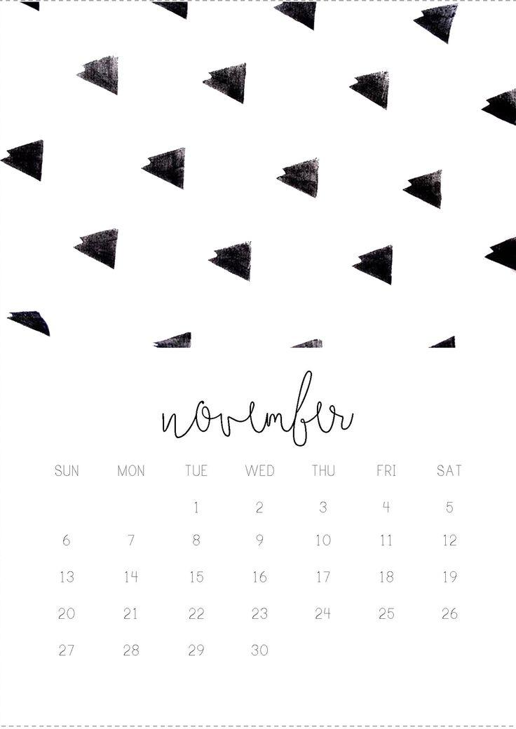 11/12 November monthly 2016 calendar printable, collage digital design by Gisela Titania. ask me for higher resolution via email titaniagisela@gmail.com. A5 size