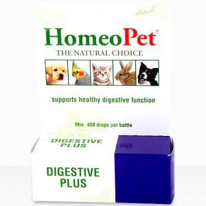 Homeopet Digestive Plus supports healthy digestive function for dogs