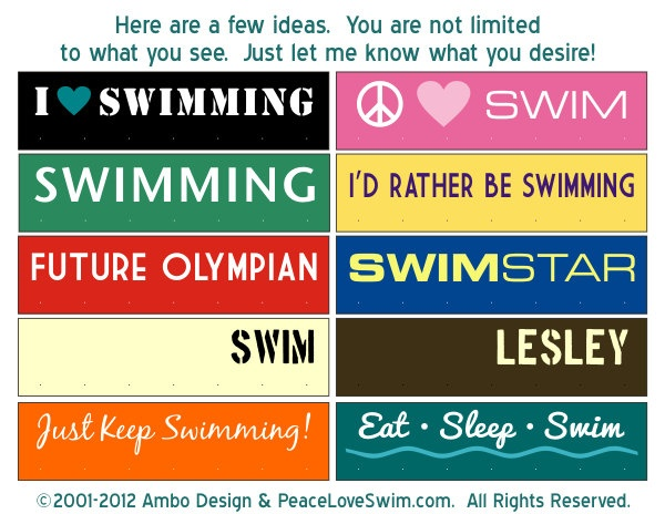 Future Olympian Swimming Medal & Ribbon Hanger by AmboDesign, $21.00