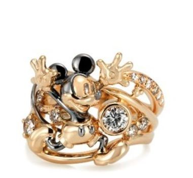 Mickey Mouse diamond ring