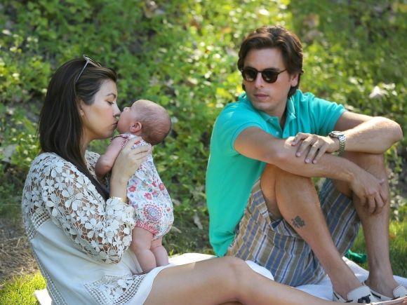 Kourtney Kardashian and Scott Disick Take Baby Penelope Scotland to the Park for a Picnic