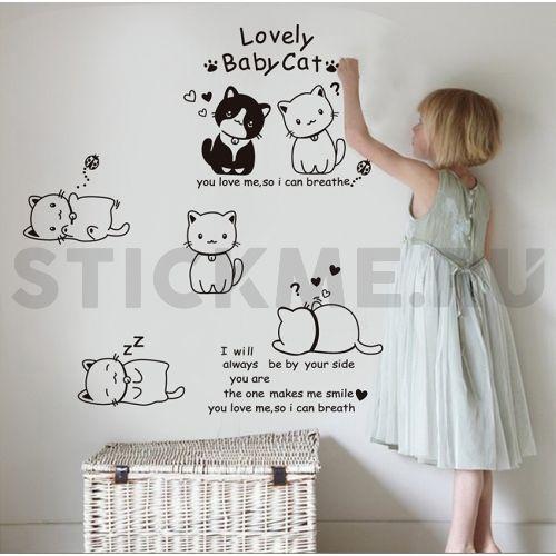 Наклейка на стену Кошечки