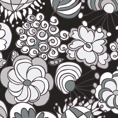 This NEW fabric collection just arrived at the shop from our friends at Andover Fabrics... This yummy various shades of black & white & grey nine bolt fabric collection was designed by Carol Van Zandt. I really like 'Licorice Fizz' :)